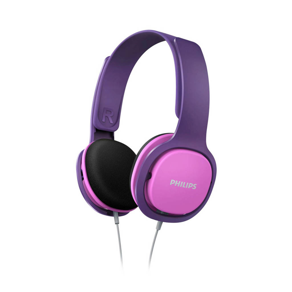 Philips SHK2000PK on-ear kinder koptelefoon, Roze, Paars