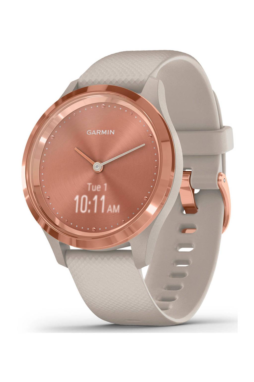 Garmin VivoMove 3S Sport smartwatch, Rosé goud