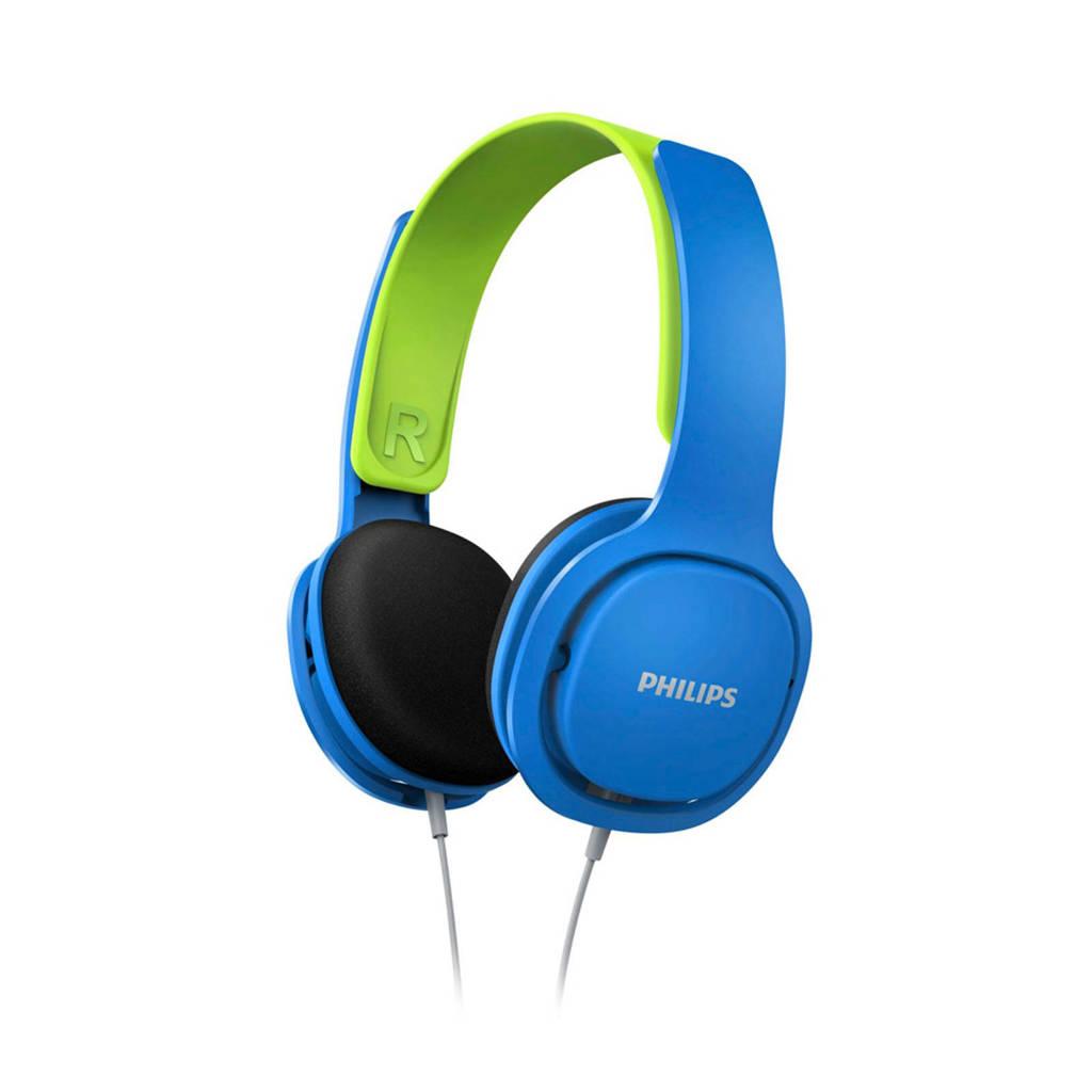 Philips SHK2000BL on-ear kinder koptelefoon, blauw, groen