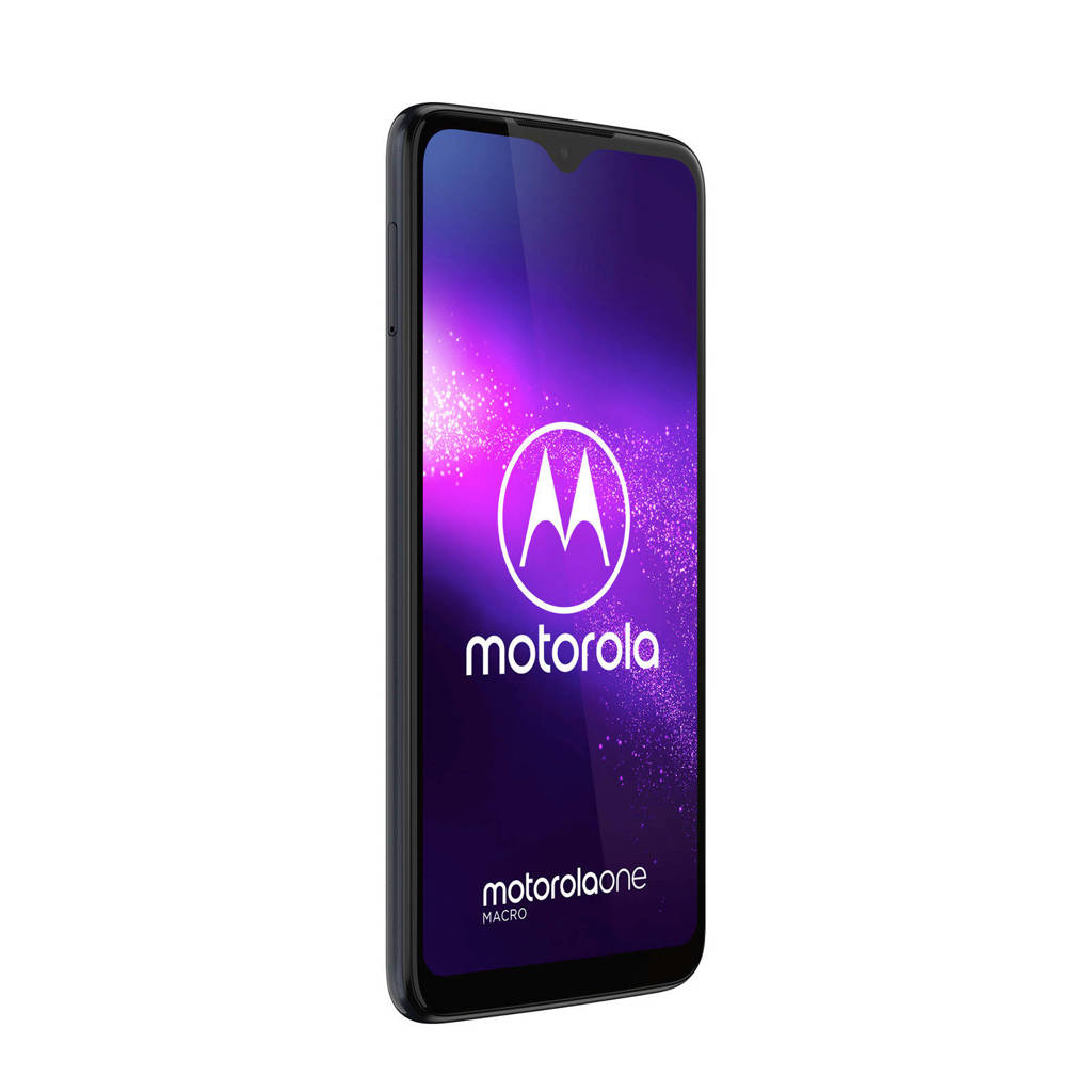Motorola One Macro smartphone, Blauw