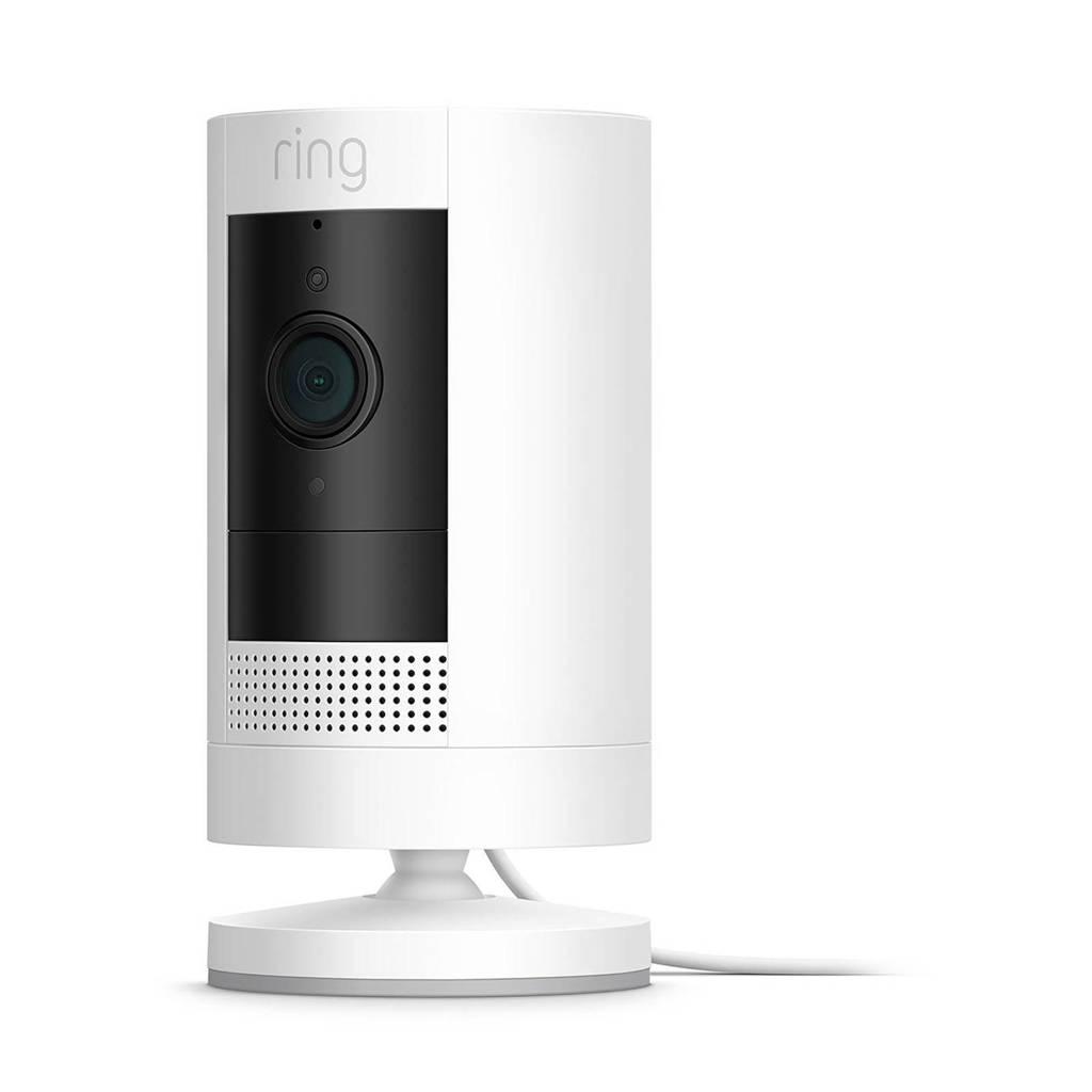 Ring Stick Up Camera plug in beveiligingscamera, Wit