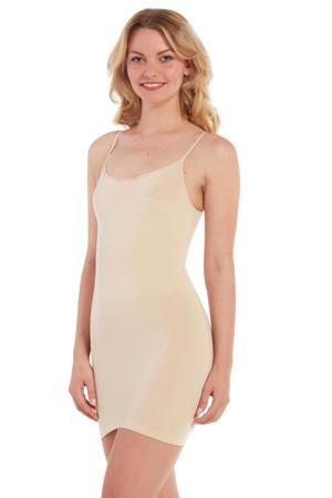 corrigerende jurk lichtbeige