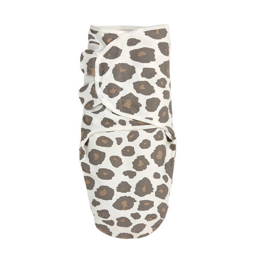 Meyco swaddle dubbellaags 4-6 mnd Panter neutral