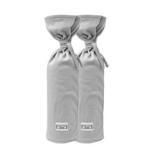 kruikenzak Basic jersey - set van 2 lichtgrijs