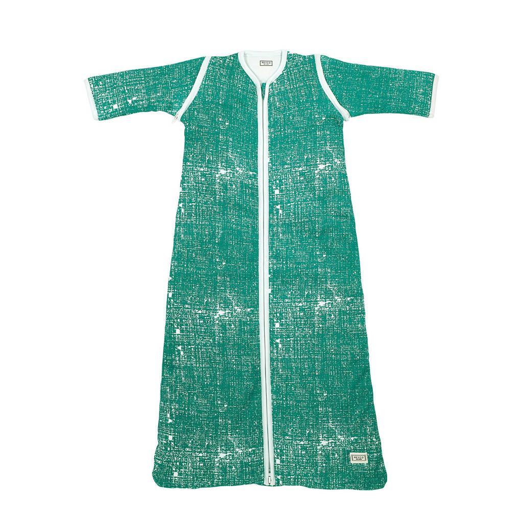 Meyco baby slaapzak winter met afritsbare mouw 110 cm Fine lines emerald green, Emerald Green