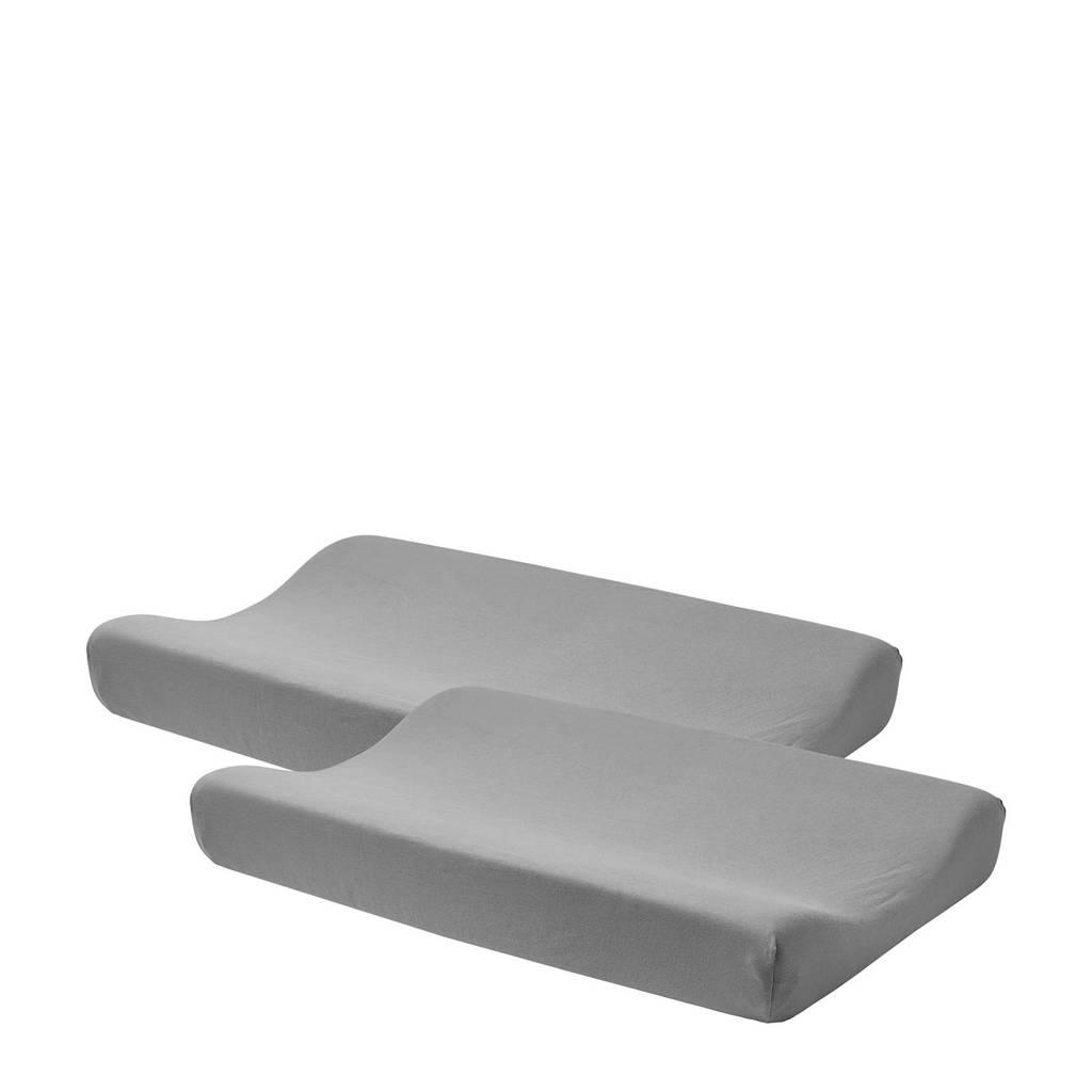 Meyco aankleedkussenhoes Basic jersey - set van 2 grijs, Grijs