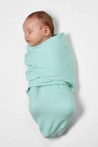 Meyco swaddle dubbellaags 0-3 mnd Uni new mint, New Mint
