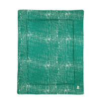 Meyco boxkleed Fine lines emerald green, Emerald Green