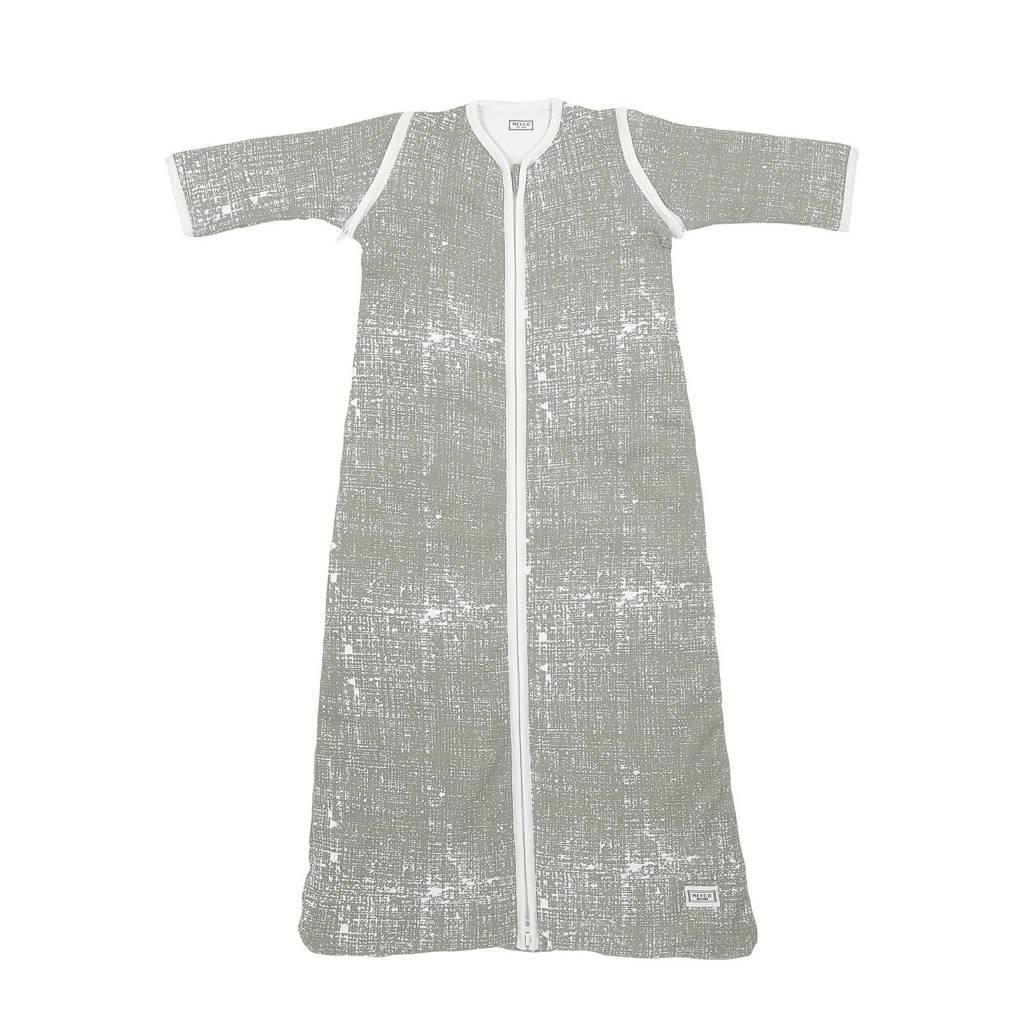 Meyco baby slaapzak winter met afritsbare mouw 110 cm Fine lines lichtgrijs, Lichtgrijs