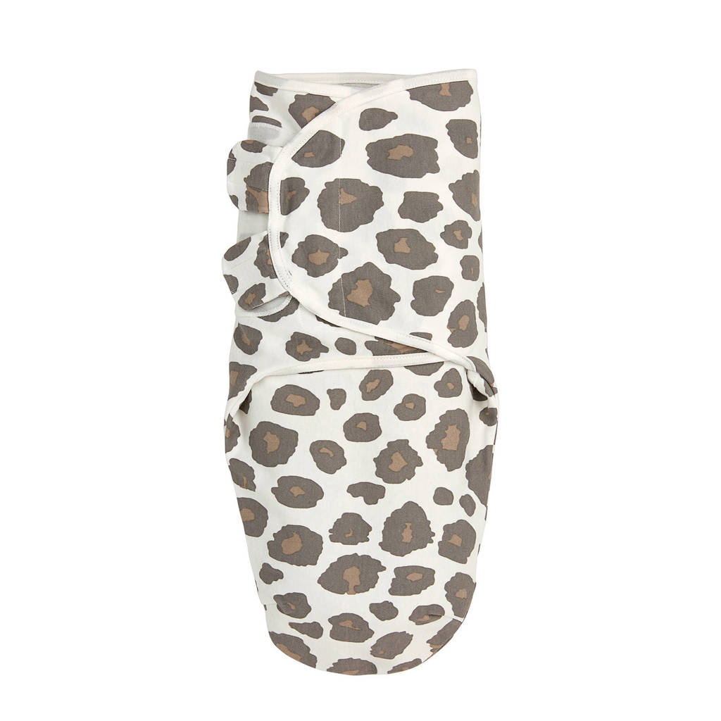 Meyco swaddle dubbellaags 0-3 mnd Panter neutral, Zand