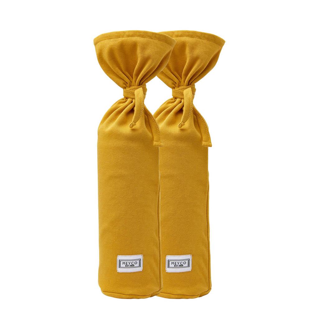 Meyco kruikenzak Basic jersey - set van 2 okergeel, Okergeel