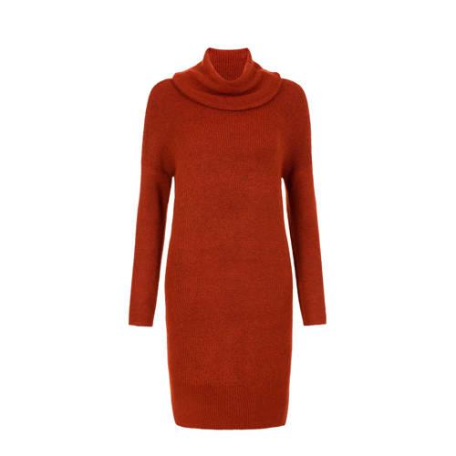 Miss Etam Regulier gebreide jurk bruin