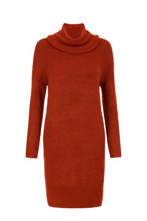 gebreide jurk bruin