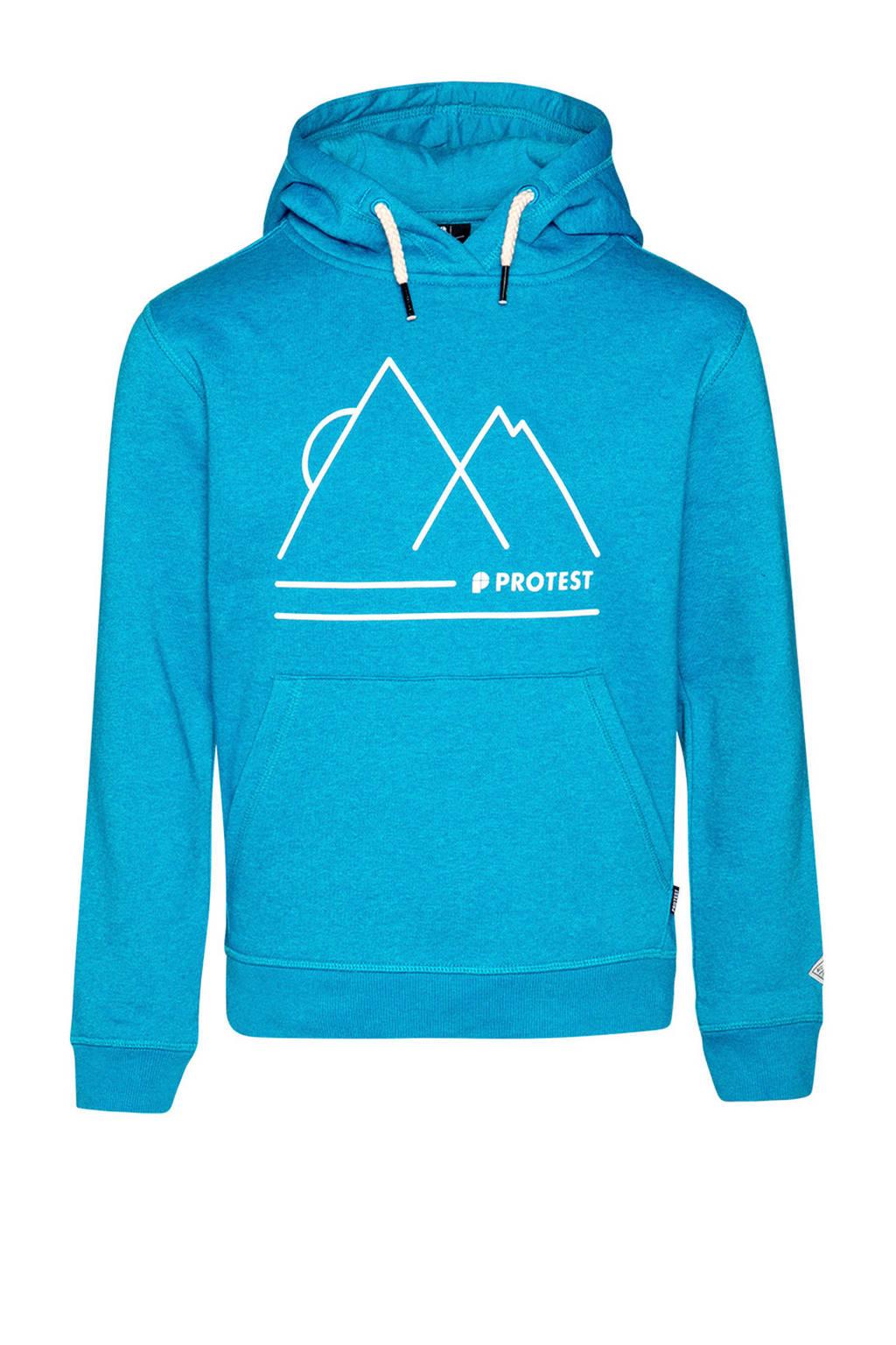 Protest hoodie blauw, Marlin Blue