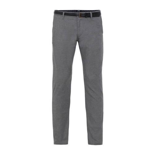 WE Fashion slim fit chino grey melange