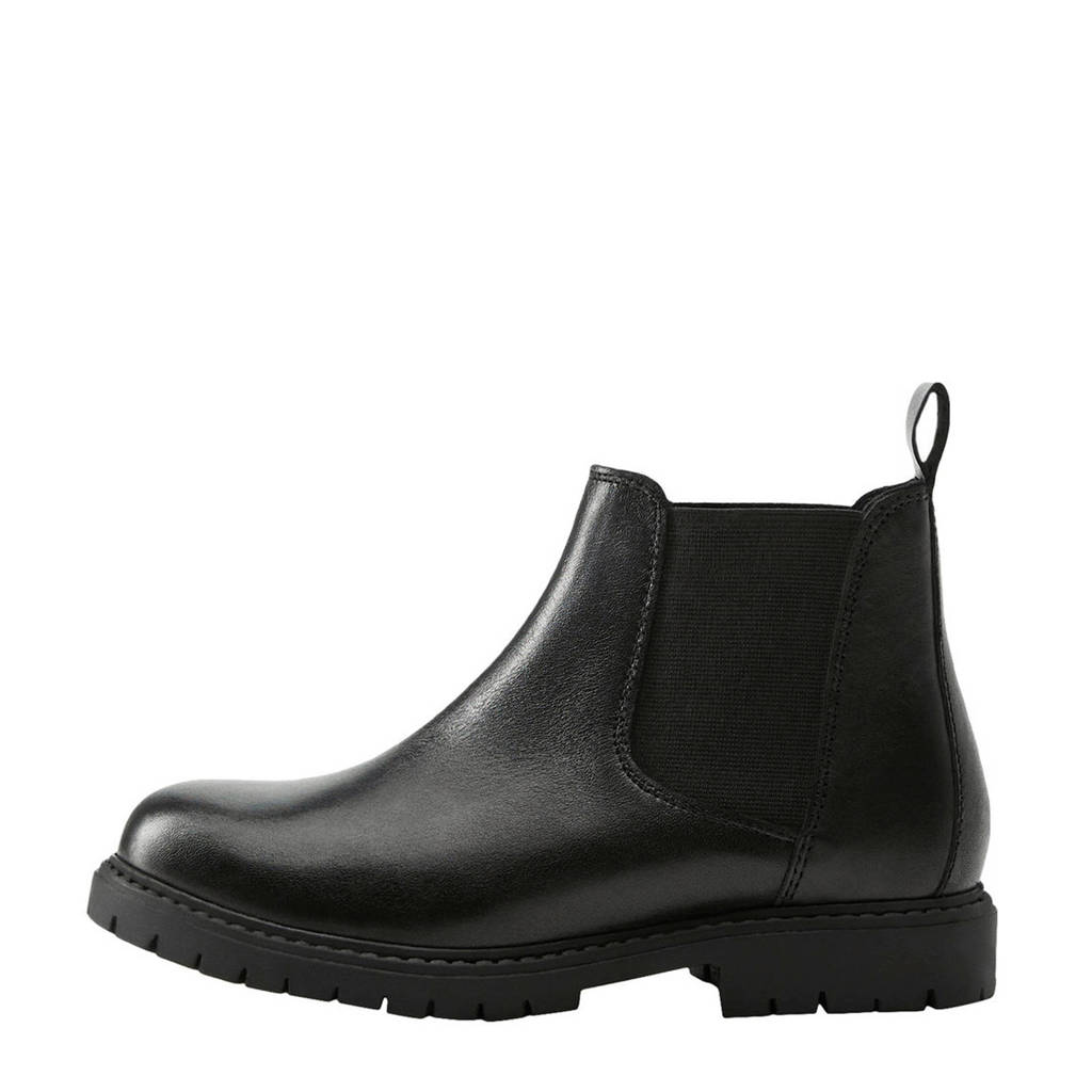 Mango Kids   leren chelsea boots zwart, Zwart