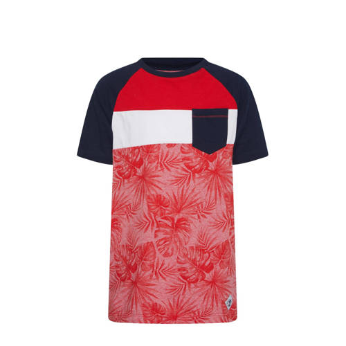 WE Fashion T-shirt met all over print rood