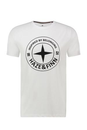 T-shirt met logo wit/zwart
