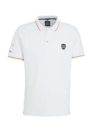 regular fit polo wit/oranje