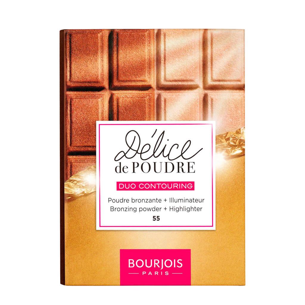 Bourjois Delice De Poudre Bronzer & Highlighter - 55 Highlighter & Universal Tan
