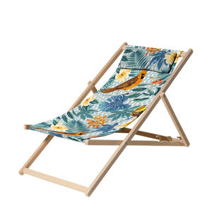strandstoel Palm Blue