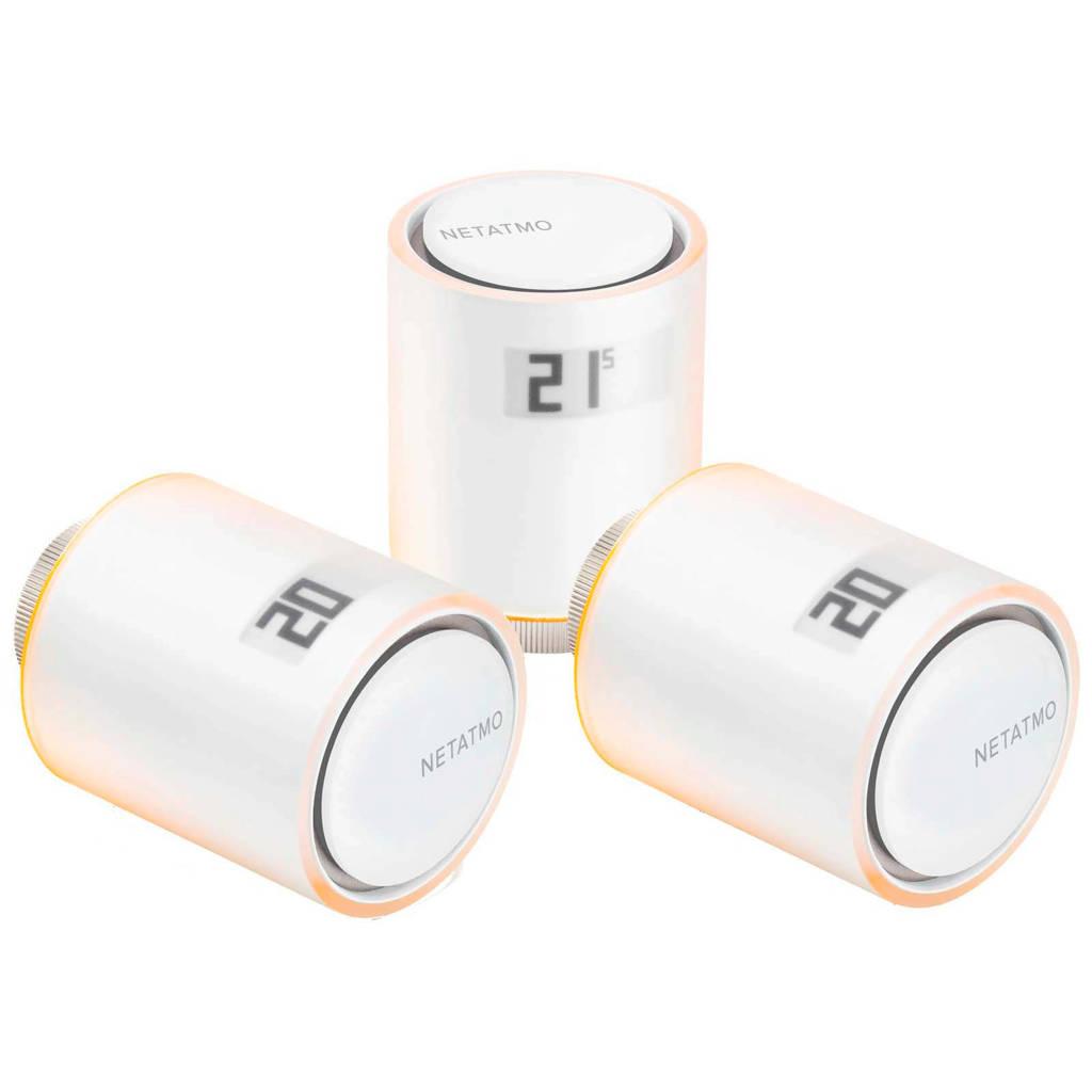 Netatmo Slimme Radiatorknop - Uitbreiding - 3 stuks radiatorknoppen