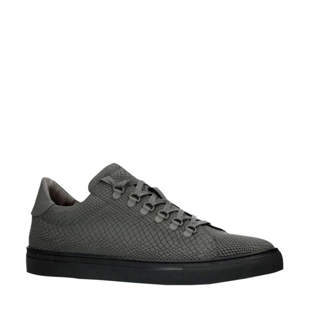 Sacha   leren sneakers grijs, Grijs