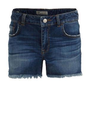 high waist jeans short Pamela met slijtage loril wash