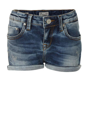 slim fit jeans short Judie met slijtage mirage wash