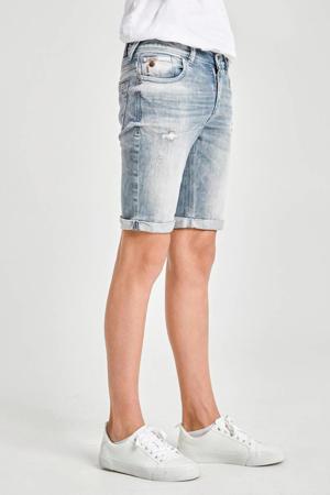 slim fit jeans bermuda Lance met slijtage woody wash