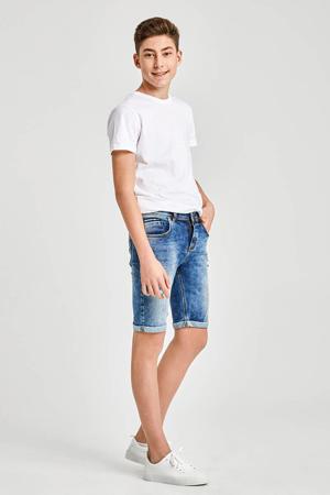 slim fit jeans bermuda Corvin met slijtage payne wash