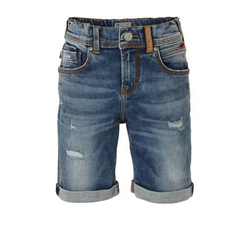 LTB slim fit jeans bermuda Corvin met slijtage pay