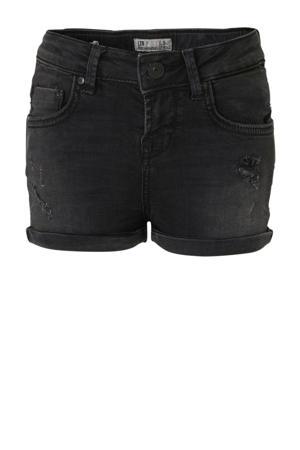 slim fit jeans short Judie met slijtage feal wash