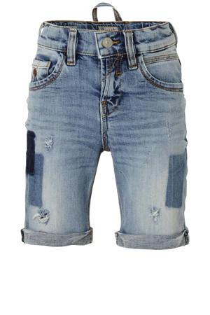 slim fit jeans bermuda Lance met slijtage james wash