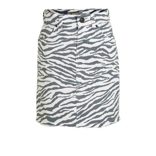 LTB rok Lime met zebraprint zwart/wit