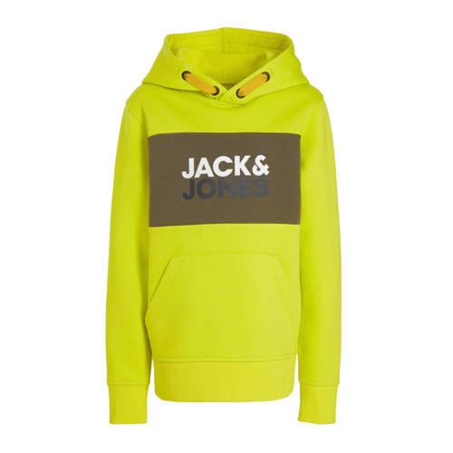JACK & JONES JUNIOR hoodie Jonah met logo lime
