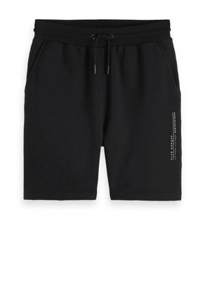 regular fit sweat short zwart