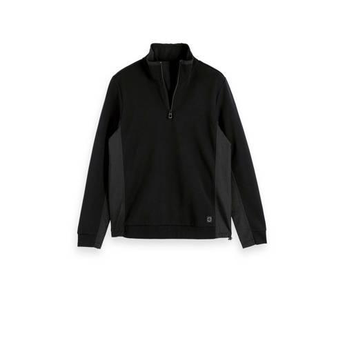 Scotch & Soda CLUB NOMADE sweater zwart