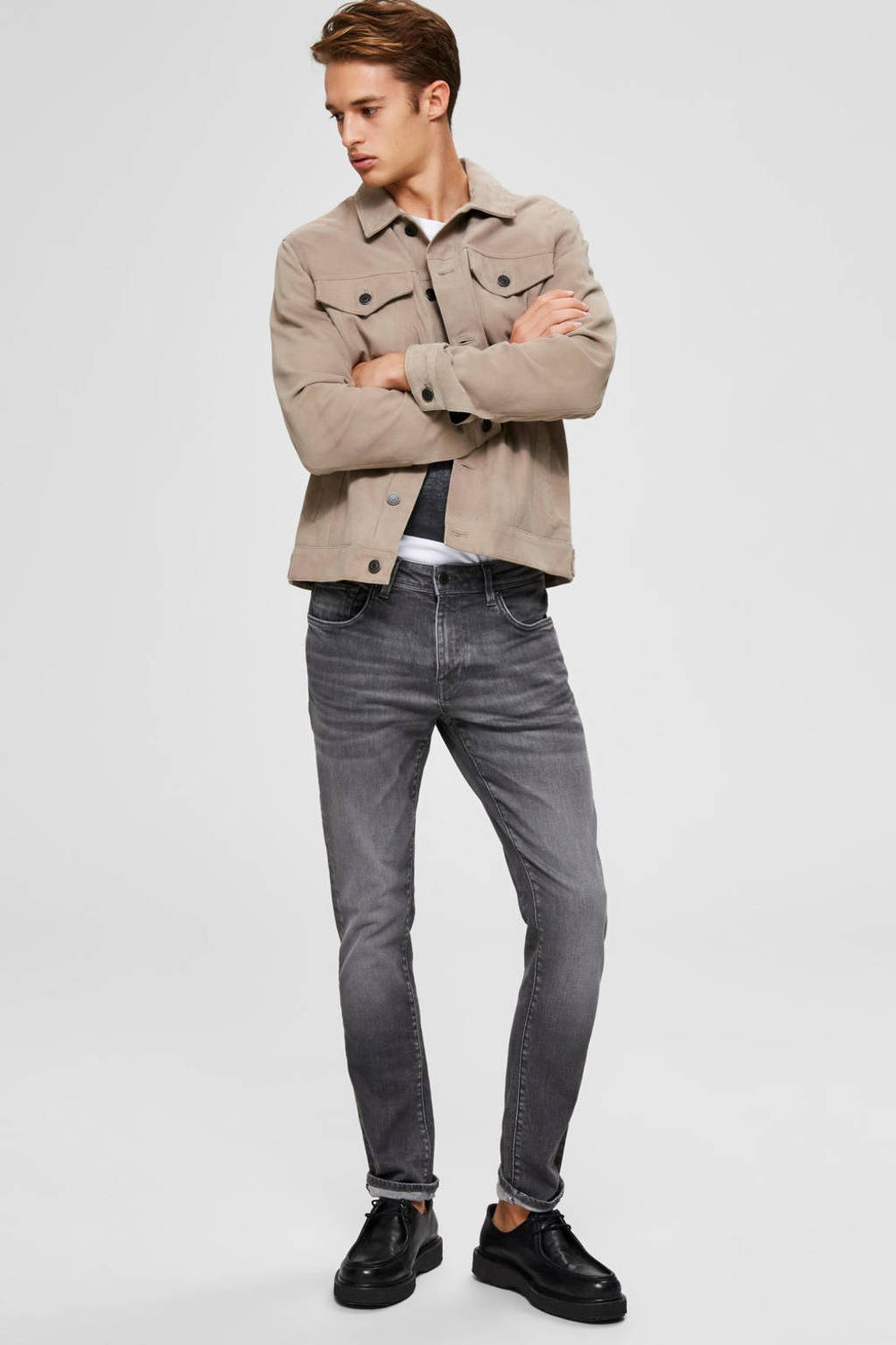 SELECTED HOMME slim fit jeans grey denim, Grey denim