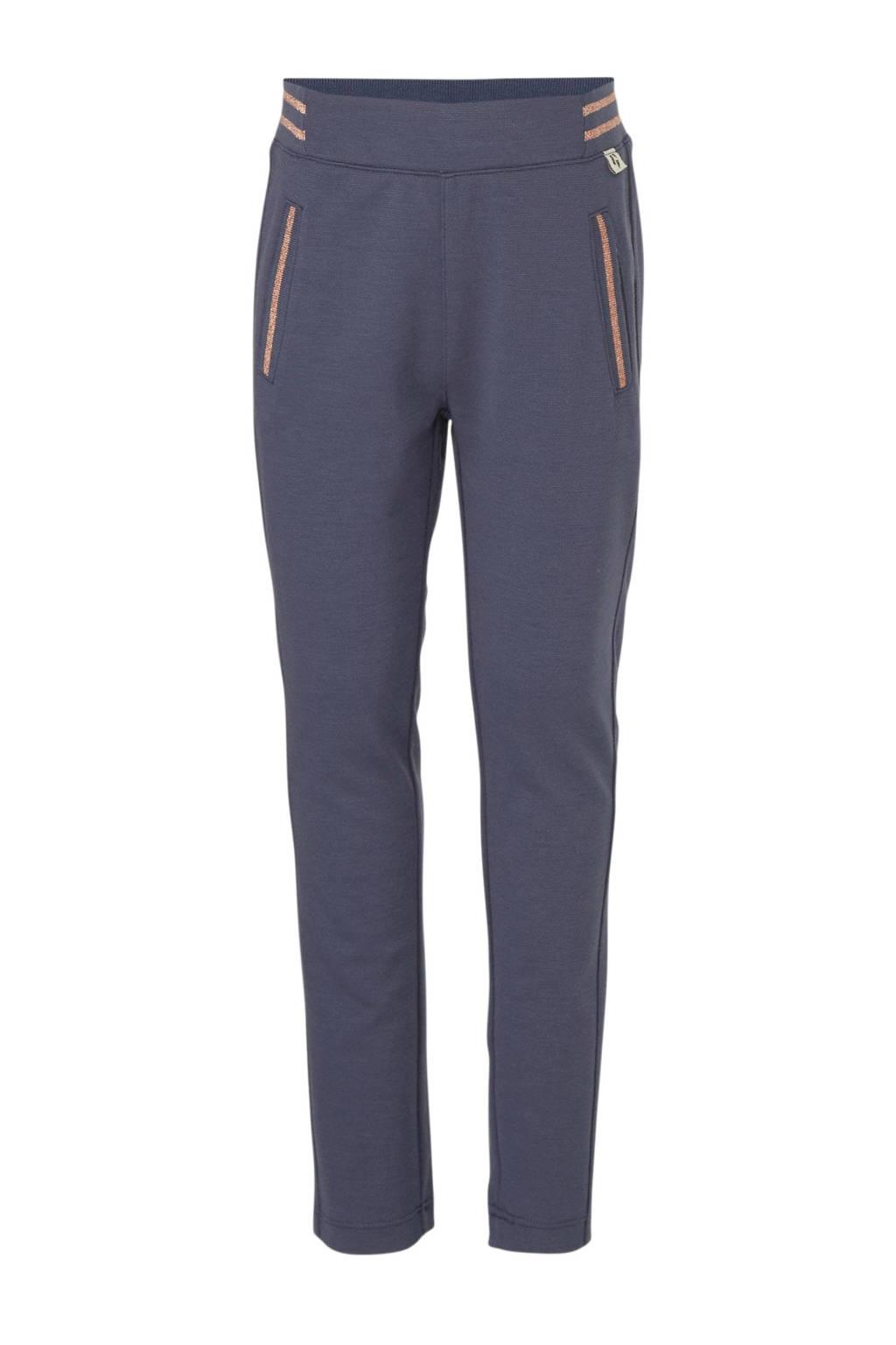 Garcia loose fit joggingbroek donkerblauw/rose goud, Donkerblauw/rose goud