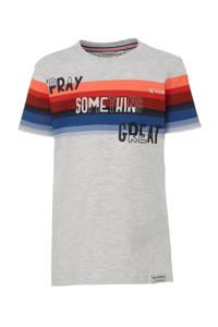 Garcia T-shirt grijs melange/zwart/multi, Grijs melange/zwart/multi