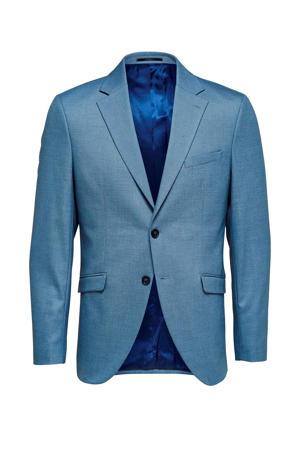 slim fit colbert blauw