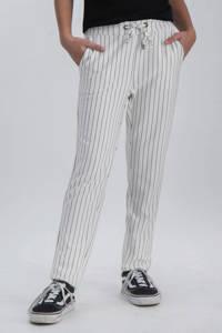 Garcia gestreepte regular fit broek offwhite/zwart, Offwhite/zwart