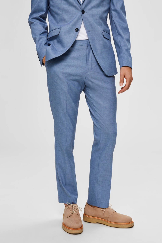 SELECTED HOMME slim fit pantalon blauw, Blauw