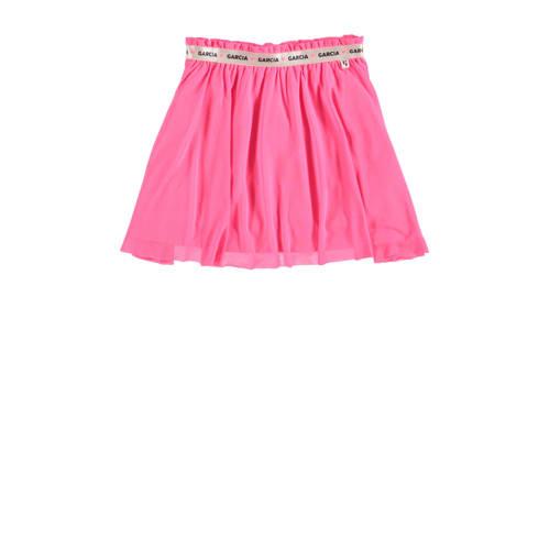 Garcia rok met plooien roze/goud/zwart