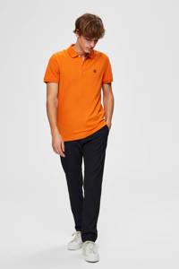 SELECTED HOMME slim fit polo met biologisch katoen oranje, Oranje