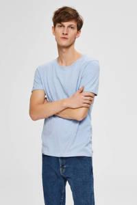 SELECTED HOMME T-shirt met biologisch katoen blauw, Blauw