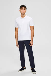 SELECTED HOMME slim fit polo wit, Wit