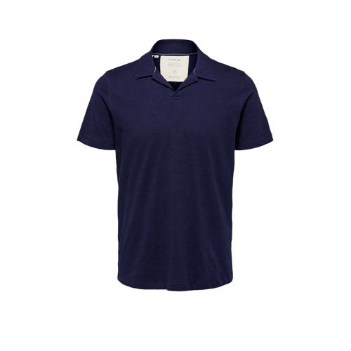 SELECTED HOMME slim fit polo maritime blue