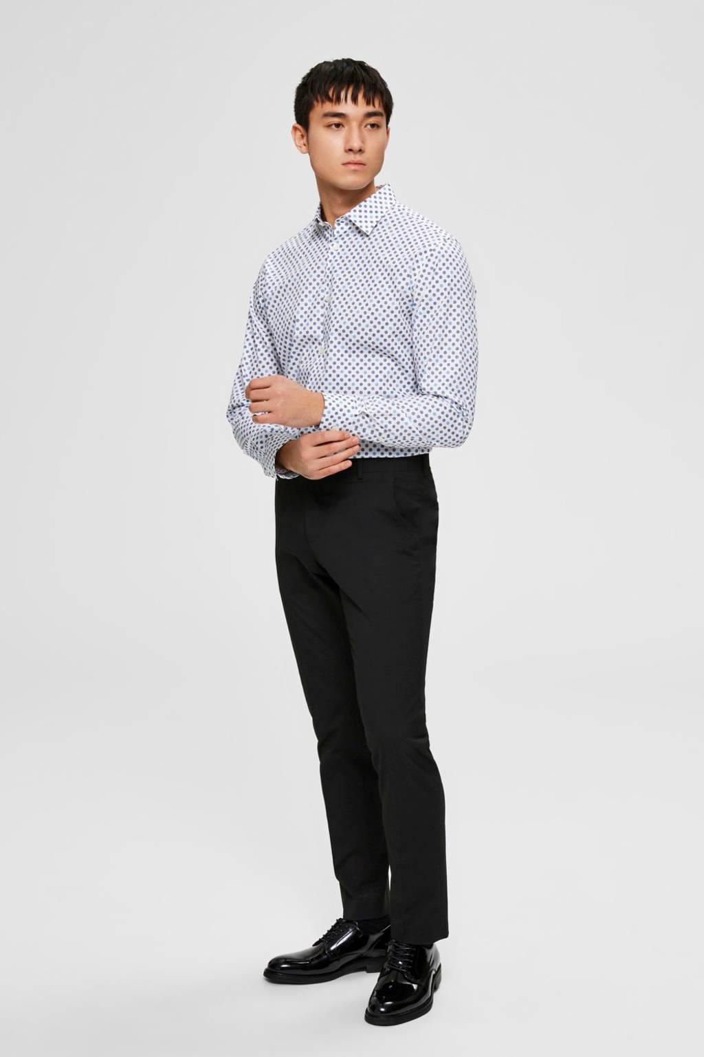 SELECTED HOMME slim fit overhemd van biologisch katoen wit, Wit